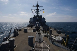 U.S. Navy ship fires warning shots toward Iranian vessel
