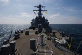 U.S. Navy ship fires warning shots toward Iranian vessel