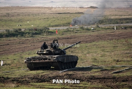 Armenian soldiers claim second spot at tank biathlon in Moscow