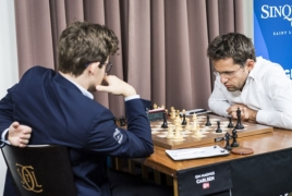 Sinquefield Cup: Aronian loses to Carlsen, shares 4th-5th spots