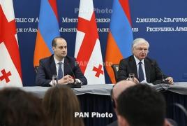 Armenian, Georgian FMs talk bilateral relations, Karabakh conflict