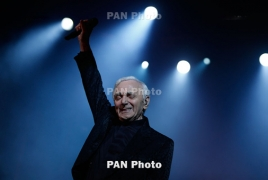 French-Armenian crooner Charles Aznavour coming down under