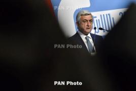 Саргсян: Армения в 2040 году должна иметь как минимум 4 млн жителей