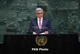 Նախագահի ելույթը ՄԱԿ-ում. ԼՂ հիմնահարցը մարդու իրավունքների խնդիր է