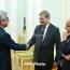 Armenia president, EU commissioner talk Karabakh, bilateral ties