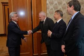 Саргсян обсудил с сопредседателями МГ ОБСЕ организацию встречи с Алиевым