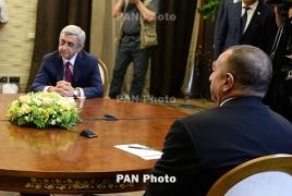 Armenian, Azerbaijani presidents to talk Karabakh October 16