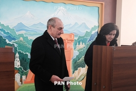 Karabakh  president meets Flemish lawmakers in Brussels