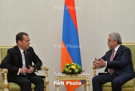 Medvedev in Armenia: growth in trade turnover, no change in gas price