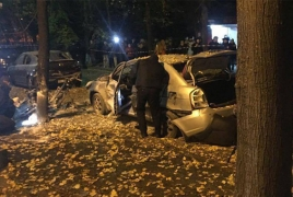 One killed, four injured in Kiev 'terrorist act'