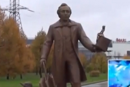 Armenian artists create Hans Christian Andersen statue in Moscow