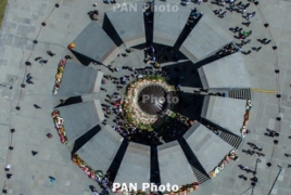 Russian lawmakers visit Armenian Genocide memorial