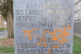 Armenian Genocide memorial desecrated in France's Vienne