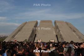 Moldova president visits Armenian Genocide memorial