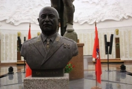 Armenian marshal Hovhannes Baghramyan's bust opens in Moscow
