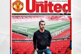 Henrikh Mkhitaryan covers Inside United's December issue