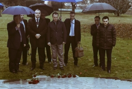 Armenia defense minister remembers Genocide victims in Canada