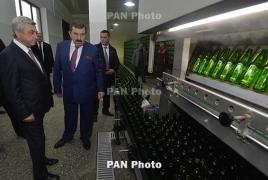 Армения намерена экспортировать безалкогольное пиво в Иран: В Дилижане открылся новый завод