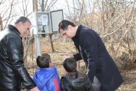 Armenian village of Amrakits now has LED outdoor lighting system
