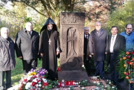 Kachkar in memory of Armenian Genocide victims erected in Germany