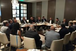 Karabakh state minister talks trade ties with California senator