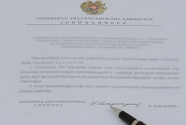 Armenian president ratifies new law on military service