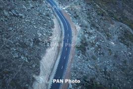 На ряде автодорог Армении образовался гололед: Ларс открыт