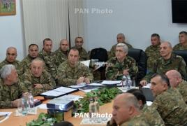 Президенты Армении и Карабаха обсудили повышение обороноспособности армии НКР