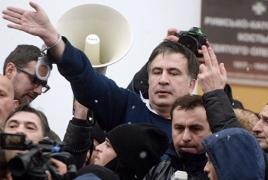 Կողմնակիցներն ազատել են Սահակաշվիլիին. Նա ելույթ է ունեցել Ուկրաինայի Գերագույն ռադայի մոտ