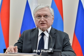 Armenia follows Jerusalem events, Nalbandian says