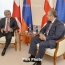 Armenia president, Georgia PM hail friendly, warm relations