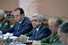 Armenia president briefed on 7-year army modernization program