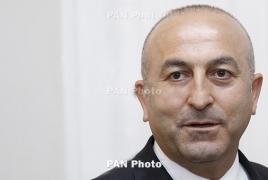 Turkish FM repeats Ankara narrative of Armenian Genocide