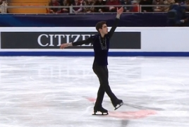 Armenian figure skater comes in 15th at European Championships