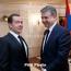 Карапетян и Медведев провели беседу тет-а-тет в Алматы