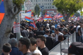 Hollywood march to honor memory of Armenian Genocide victims
