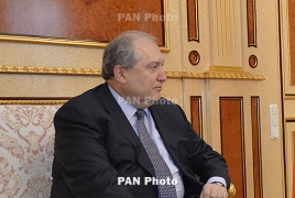 Armenia presidential nominee meets opposition Yelk lawmakers