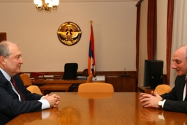 Artsakh leader, Armenia presidential nominee talk bilateral ties