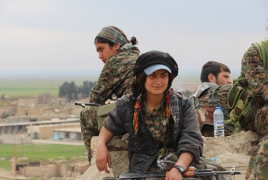Female Kurdish fighters filmed targeting Turkish vehicle with ATGM