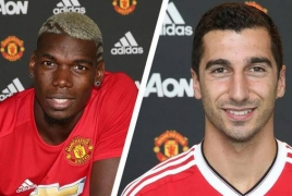 Paul Pogba, Henrikh Mkhitaryan 'clashed' before Armenian's exit
