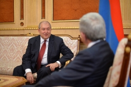 Armen Sarkissian accepts nomination for Armenian president's post