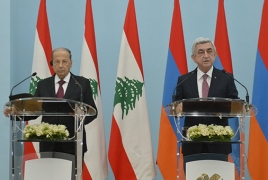 Armenia says always there to help Lebanon to defy challenges