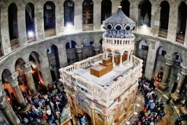 Jerusalem's top Christians close Holy Sepulchre Church in tax protest