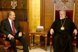 Արամ կաթողիկոսը ողջունել է Արմեն Սարգսյանի թեկնածությունը ՀՀ նախագահի պաշտոնում