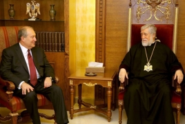 Catholicos Aram I welcomes Armenia presidential candidate's nomination