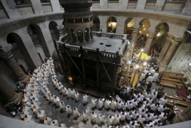 Top Armenian, Greek, Roman clerics agree to open Holy Sepulchre Church