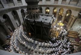Армянская, греко-православная и католическая церкви открыли Храм гроба Господня после 3 дней протеста