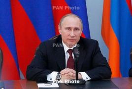 Путин поздравил Саркисяна по случаю избрания президентом Армении