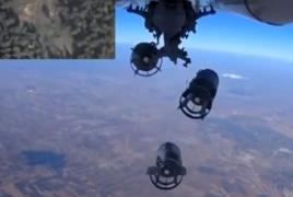 Russian warplanes burn multiple militant convoys in east Damascus