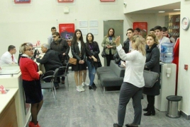 Yerevan school students visit VivaCell-MTS headquarters